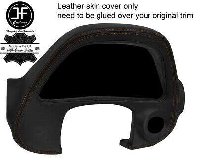 BROWN STITCH GAUGE SPEEDO SURROUND TRIM LEATHER COVER FOR LEXUS IS200 MK1 98-05