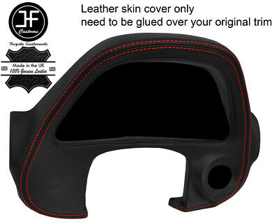RED  STITCH GAUGE SPEEDO SURROUND TRIM LEATHER COVER FOR LEXUS IS200 MK1 98-05