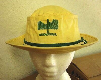 EL CONQUISTADOR vtg bucket hat Cactus logo Derry Cap w/ green ribbon band 1980s