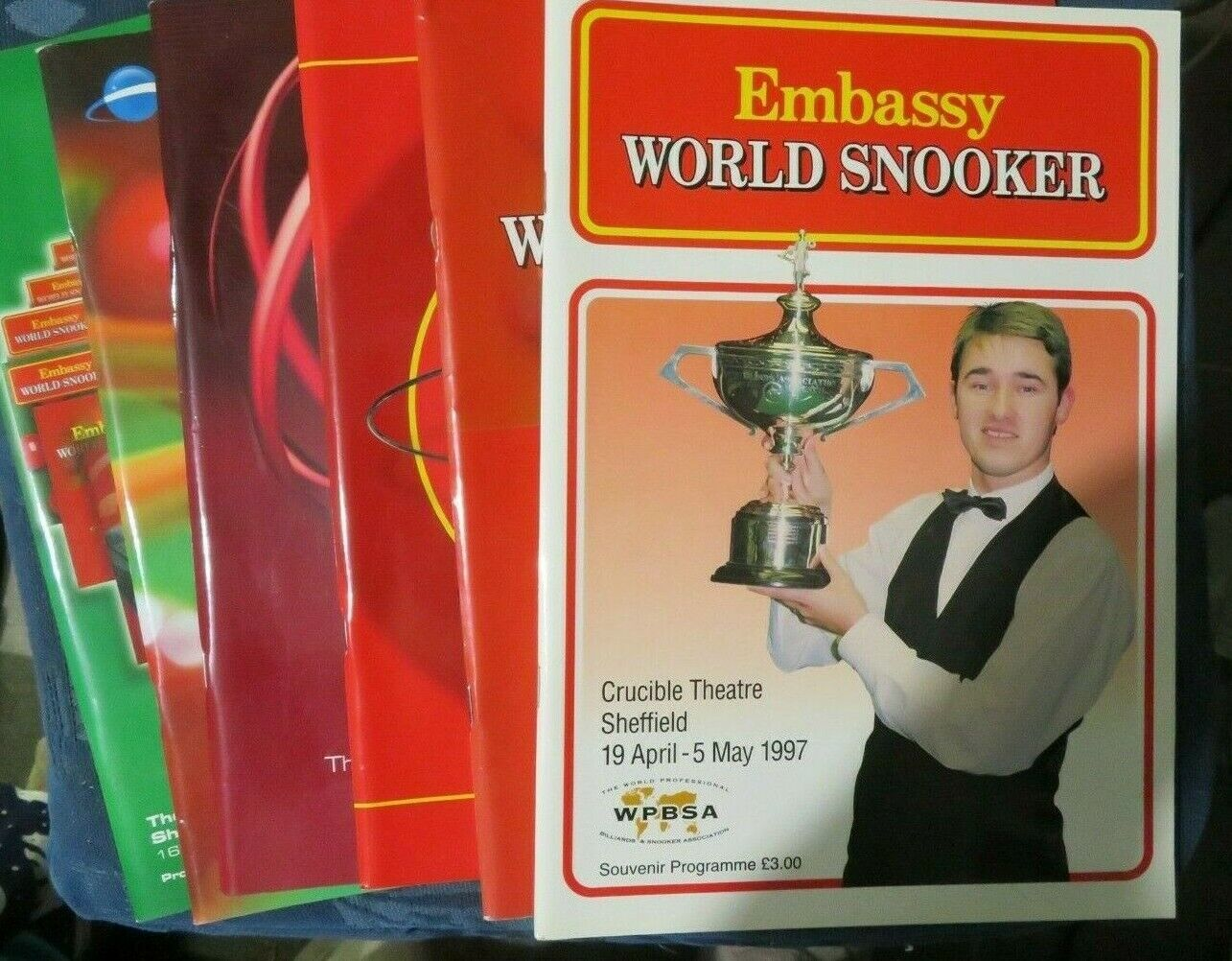 World Snooker Championship Programmes 1984 to 2008 - The Crucible, Sheffield