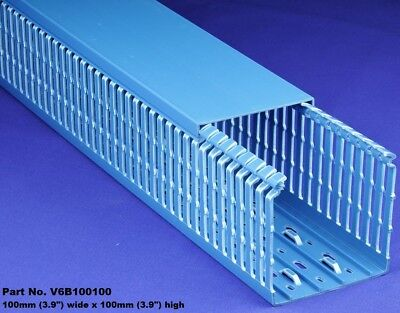 6 Sets -4x4x2m Blue High Density Premium Wiring Ducts And Covers -ulcsa