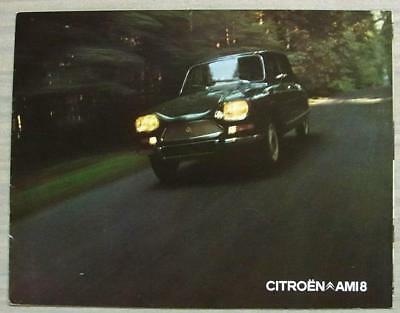 CITROEN AMI 8 Car Sales Brochure Sept 1971 DUTCH TEXT #HOL AMS 9-71