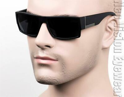 Square Cholo Sunglasses Super Dark OG LOC Gangster Style Black Matte (Raptor Sunglasses)