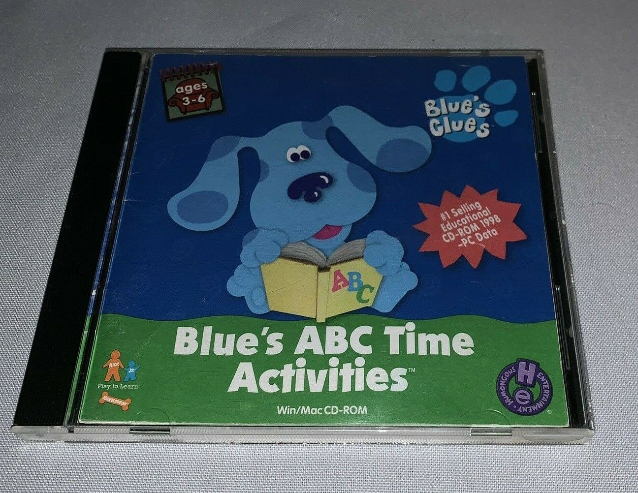 Computer Games - Blue's Clues Blue's ABC Time Activities CD Rom PC Educational Computer Software