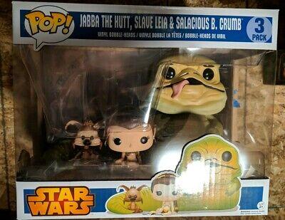 Funko POP! Star Wars Jabba the Hutt Slave Leia & Salacious Crumb 3 pack walmart