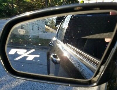 R/T RT Etched / Frosted Look Mirror Glass Decal Stickers ~ Set Of 2 Dodge Mopar