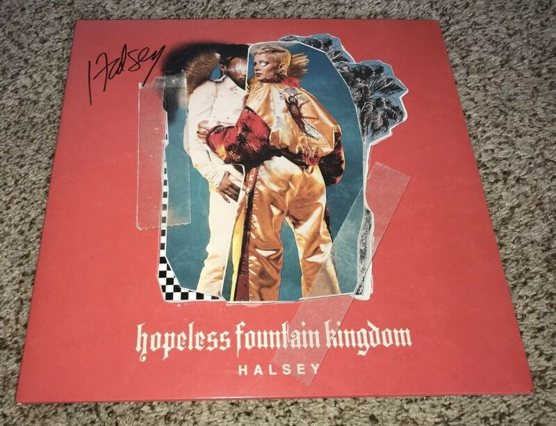 Halsey Signed Vinyl Album Hopeless Fountain Kingdom With Proof