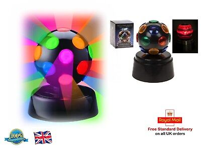 ROTATING DISCO BALL LIGHT Disco Birthday Party Stage Light Kids Room Toy Gift