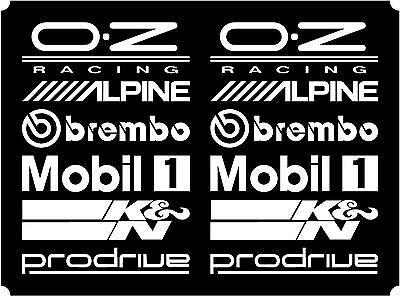 12 White Car Door Stack  Sponsor Logo Stickers,Graphics,Decals  set 2