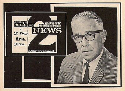 1969 TV KNOP AD~GENE LARSEN NEWS REPORTER in NORTH PLATTE,NEBRASKA~Omaha