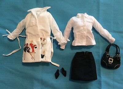 Barbie Silkstone Trench Setter Outfit Robert Best Designer (no Doll)