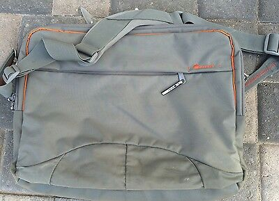 Delsey Briefcase - Delsey Deluxe Briefcase - Gray With Orange Accents Laptop Case - Lightly Used