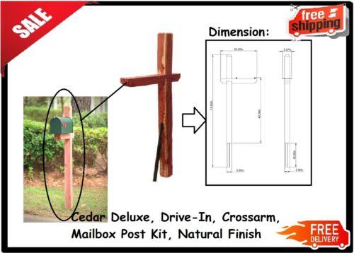 Cedar Deluxe Drive-In Mailbox Post Kit