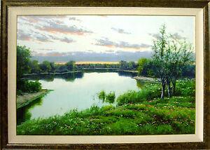 Joan-Colomer-Untitled-Landscape-Hand-Signed-Original-Oil-Painting-on-Canvas-L-K