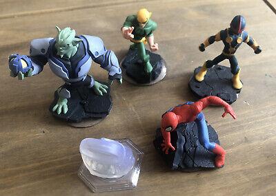 Disney Infinity Spiderman Playset Bundle Green Goblin Nova Iron Fist Combine Pos