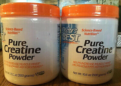 2 X Doctor's Best Pure Creatine Powder, Non-GMO, Vegan, Gluten Free, 300