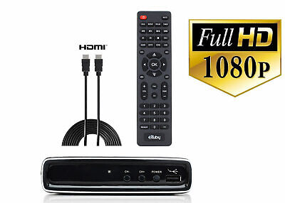 Digital Converter Box Free Over the Air TV with HDMI CABLE Antenna Required