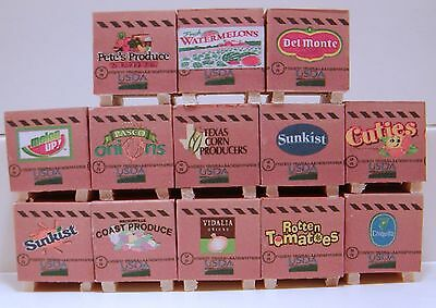 Pallets  of produce set of 12   1/64, farm toy, ertl, dcp, semi