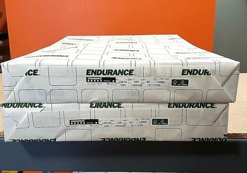 Endurance Gloss White Text Stock 13 X19 100 lb Text Gloss 500 Sheets 1 Ream