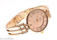 Orologio R&g Time Da Donna Acciaio Colore Oro Sottile Leggero Strass -  - ebay.it