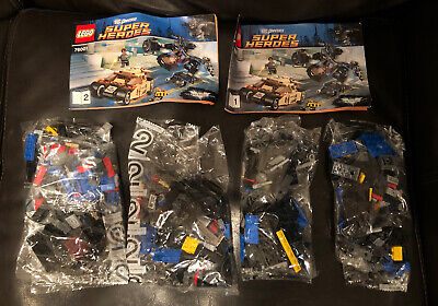 Lego x2 THE BAT ONLY 76001 The Bat vs Bane Tumbler Chase Batman Batmobile Plane
