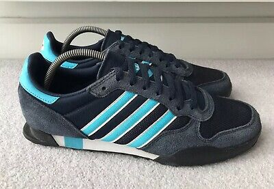 Adidas Mens Marathon 84 2014 Trainers Navy Blue Aqua White Size UK 9