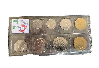 1, 2, 5, 10, 20, 50, 100, 200, 500 LIRE ITALY SET 1983-9 coins 1983 UNC