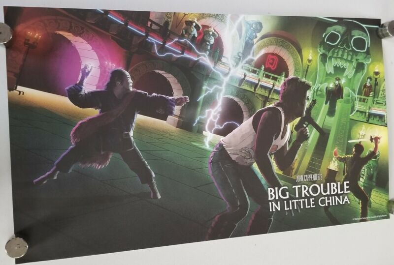 """BIG TROUBLE LITTLE CHINA SHOUT SCREAM FACTORY LITHOGRAPH 28.5"""" X 16.5"""" Poster"""