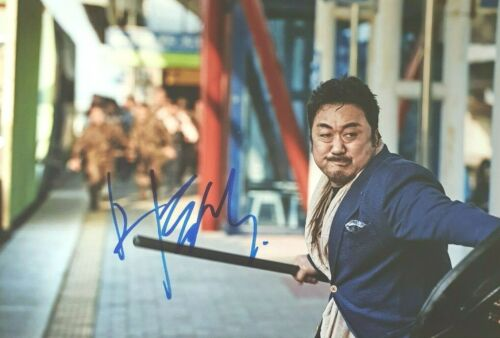 MA DONG-SEOK In-Person Signed Autographed Photo Train To Busan 마동석 Don Lee