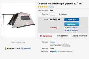Coleman Tent Instant Up 6 Person Cairns Surrounds Preview