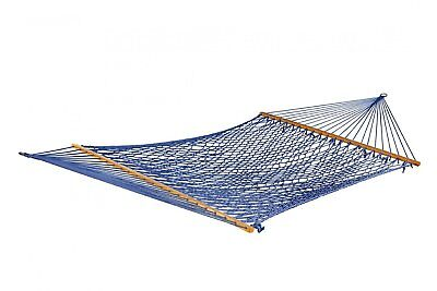 New Bliss Hammock Classic Cotton Rope Hammock Conforms To The Shape Blue