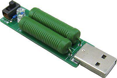 Usb Port Mini Discharge Load Resistor Digital Current Voltage Meter Tester 2a1a