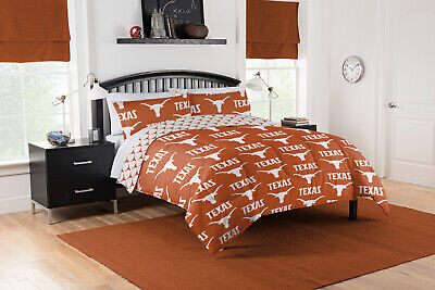 NCAA Texas Longhorns - College Alumni Bedding Set - Full Queen Twin/XL Sizes Texas Longhorns Comforter