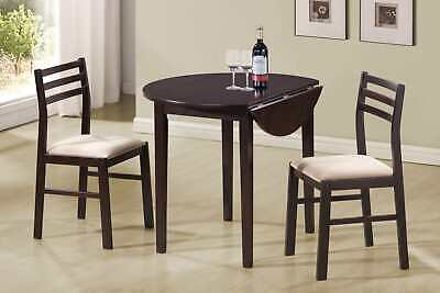 Coaster 3-Piece Dining Dinette Set With Drop Leaf Cappuccino And Tan