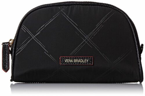 Vera Bradley Preppy Poly Small Cosmetic Case, Black, One Size