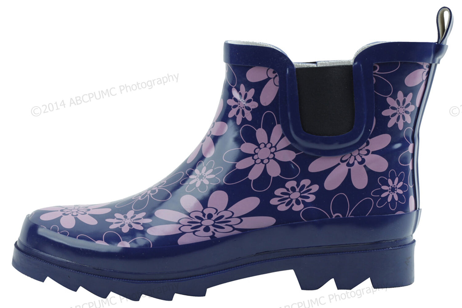 Womens Rain Boots Rubber Short Ankle Wellies wellington Pull On Garden,Size 5-11