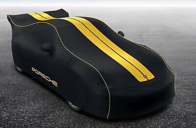 New Genuine Porsche 981 Cayman GT4 Black & Yellow Indoor Car Cover 98104400024