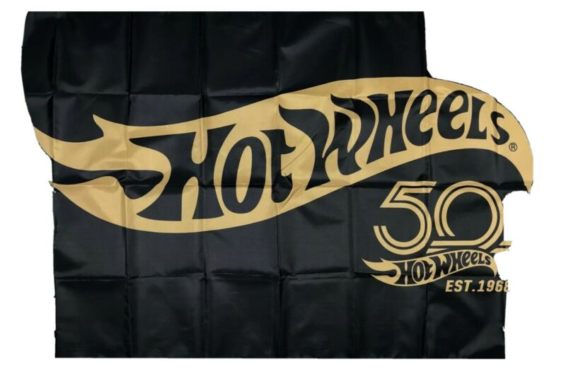 Hot Wheels Flag (3x5 ft) 50 Toy Cars Racing Man Cave 50th Anniversary