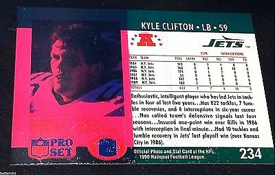 KYLE CLIFTON 1990 Pro Set ERROR Color WASH Bleed & WRONG BACK Wilcher DUAL BACKS