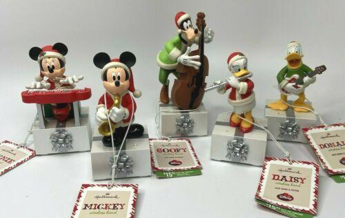 2013 Hallmark DISNEY Wireless Band Sound Motion Set of 5 With Tags Mickey Donald
