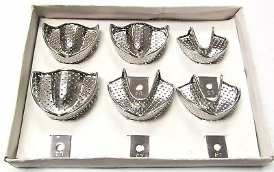 Dental Impression Trays 6pecs Set Stainless Steel