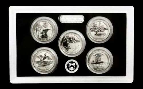 2018 -S Mint Silver Reverse Proof Quarter Set -(5 Coins) - 90% SILVER!