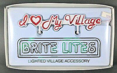 NEW Dept 56 Brite Lites Lighted Village Accessories ~ I Love My Village (52221)