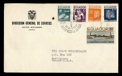 DR WHO 1950 ECUADOR FDC COMBO  g23986