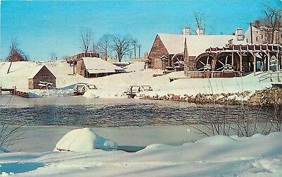 En venta Saugus Iron Works National Historic Site Massachusetts MA winter scene Postcard