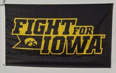 Iowa Hawkeyes Fight For Iowa Flag NCAA 3X5FT banner US shipper ()