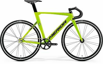 813bbbcee95 Merida 2019 Reacto Track 500 Size M L 54 CM Black/Green Track Carbon Raod  Bike
