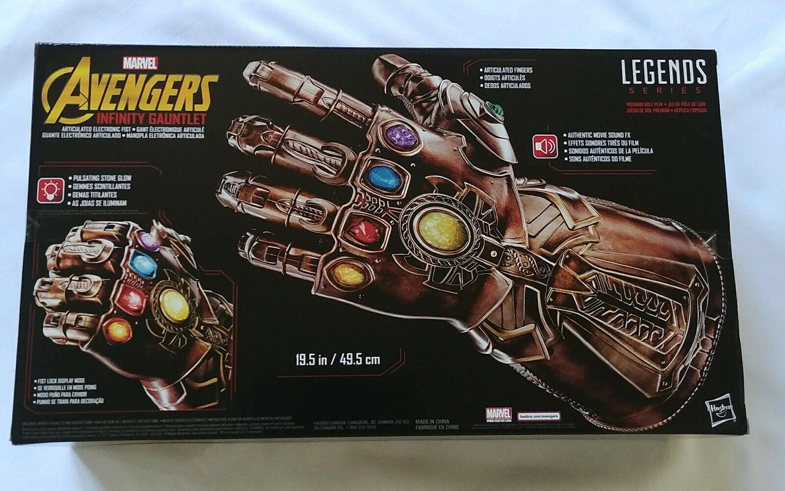 New Avengers Marvel Legends Series Infinity Gauntlet articulé électronique Fist