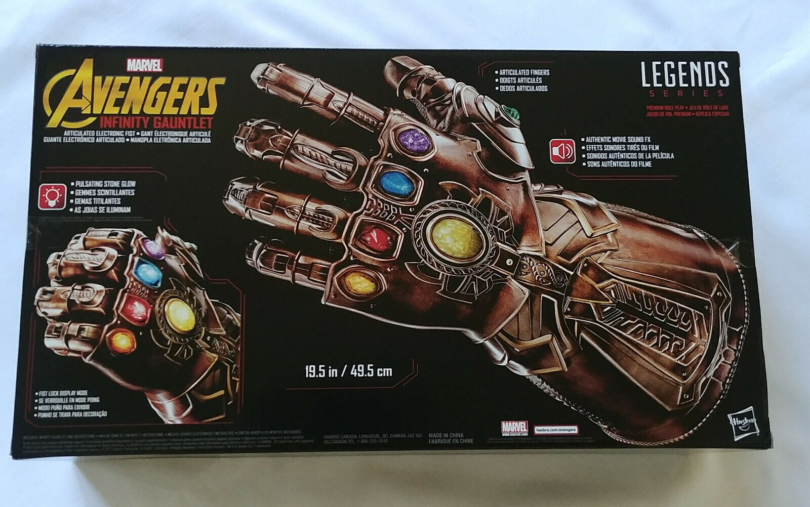 Details about Marvel Legends Infinity Gauntlet Articulated Electronic Fist  Authentic Avengers