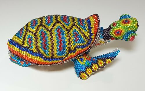 Vintage Collectible Handmade Beaded Sea Turtle Figurine